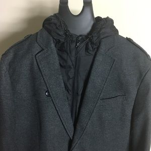 EXPRESS | Men's Peacoat With Hoodie Size L